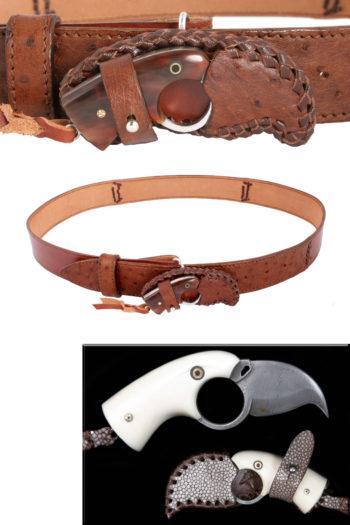 Etui boucle de ceinture, belt buckle sheath