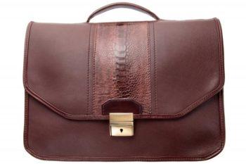 serviette en cuir, leather briefcase