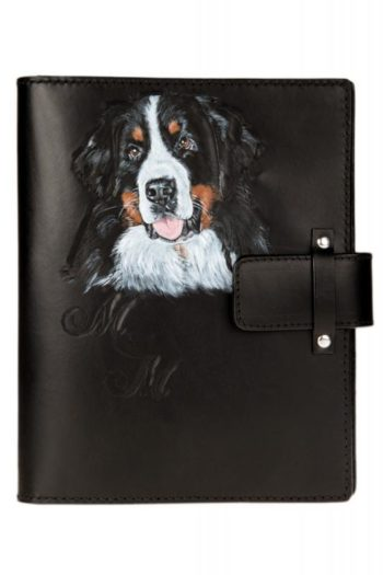 porte bloc-note, diary cover, bernese mountain dog