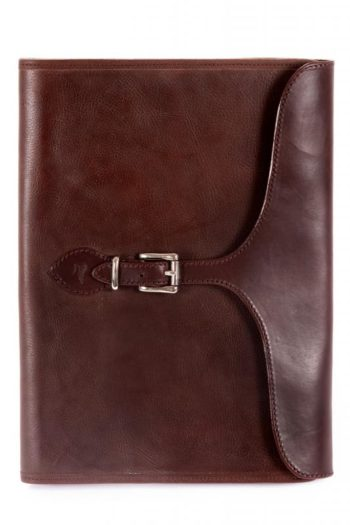porte-documents, aged leather briefcase
