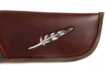 Etui de fusil pour bécassier, Leather rifle case woodcoke