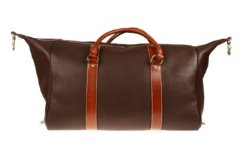 sac de voyage en cuir, leather travel bag