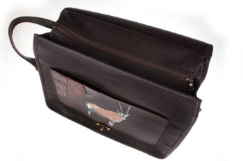 Maryline Lecourtier. Artisan du cuir - Skeet and trap bag