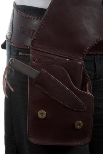 Maryline Lecourtier. Artisan du cuir - Hip belt and pouch