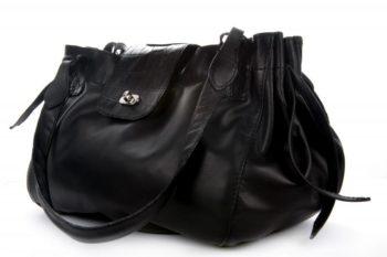 sac en cuir de veau et croco, Calfskin bag and crocodile