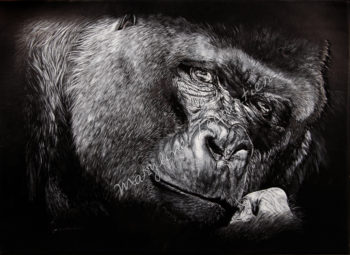 Tableau gorille, gorilla painting