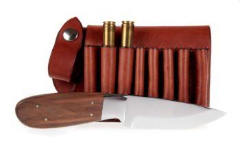 Maryline Lecourtier. Artisan du cuir - Knife and ammo sheath