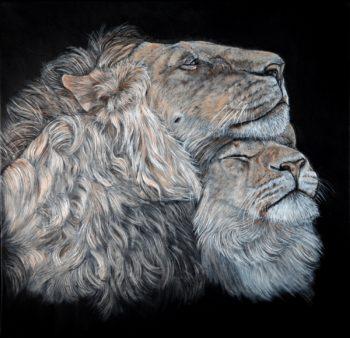 tableau lions