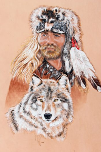 Trappeur et loup