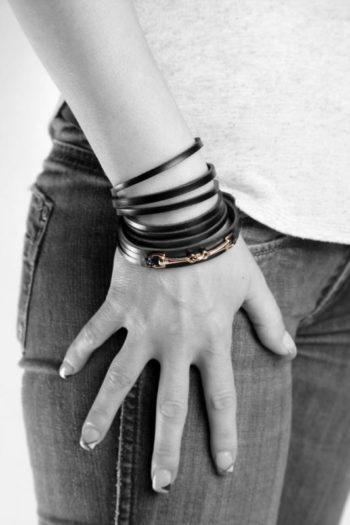bracelet en cuir, Leather Wristband
