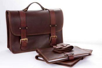 cartable en cuir, leather briefcase