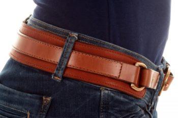 ceinture 2 cuirs