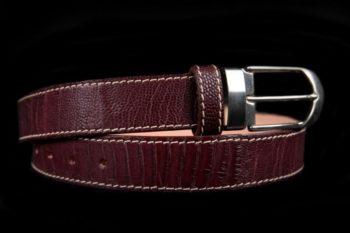 ceinture en cuir de patte d'autruche, Ostrich leg skin leather belt