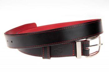 ceinture en cuir rouge et noire
