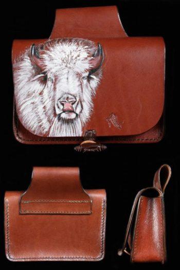 Maryline Lecourtier. Artisan du cuir - Pochette Lynx